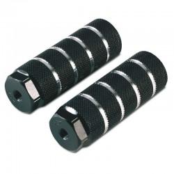 Juego de Reposapies Gurpil Aluminio Negro 38x105mm para eje de 9.5mm