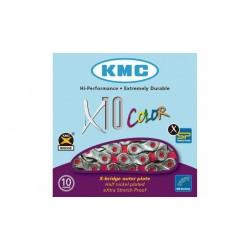 Cadena KMC X10 Vivid Roja