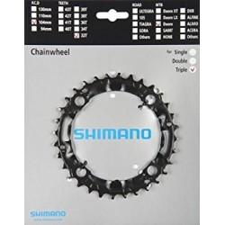 Plato Shimano Deore M590/480 Triple 9V Negro 32D
