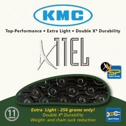 Cadena KMC X11EL 11v Negra 118 Eslabones