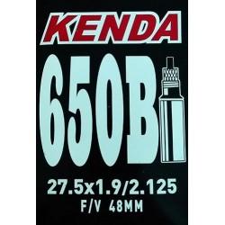 """Cámara Kenda 27.5x1.90/2.125"""" Válvula Presta 48mm"""