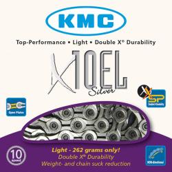 Cadena KMC X10EL 114 Eslabones 10v