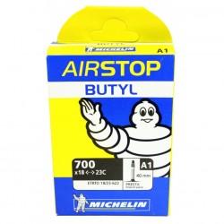 Cámara Michelin Airstop A1 700x18/23 Válvula Presta/Fina 40mm
