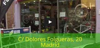 Video tienda de bicicletas Ciclos Corredor en Madrid