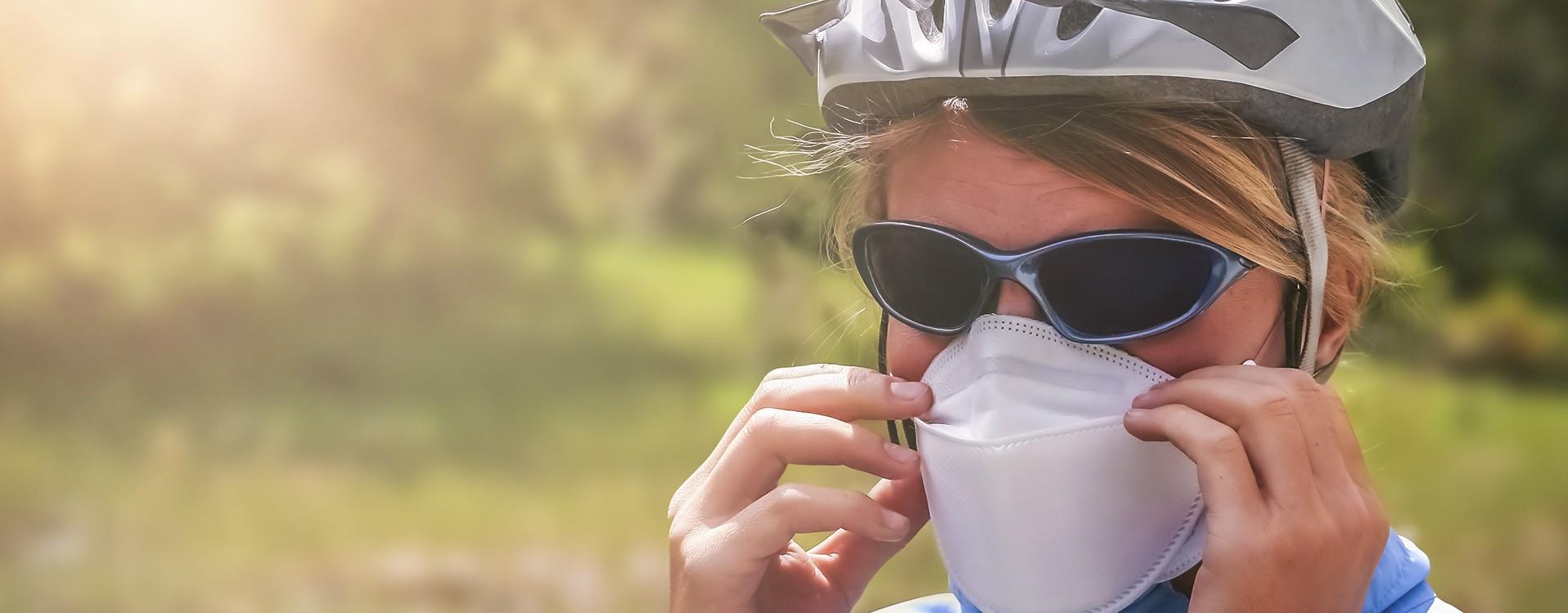 Ciclista, ¿ya tienes tu mascarilla antipolución?